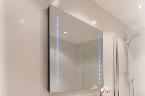 Bathroom Mirror TV Illuminated